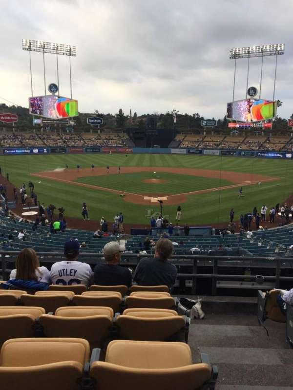 Dodger Stadium, secção: 101LG, fila: F, lugar: 1