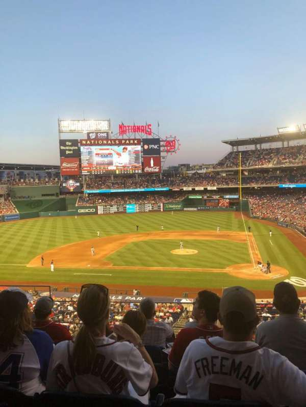 Nationals Park, secção: 210, fila: E, lugar: 19
