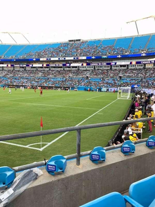 Bank of America Stadium, secção: 106, fila: 2, lugar: 5