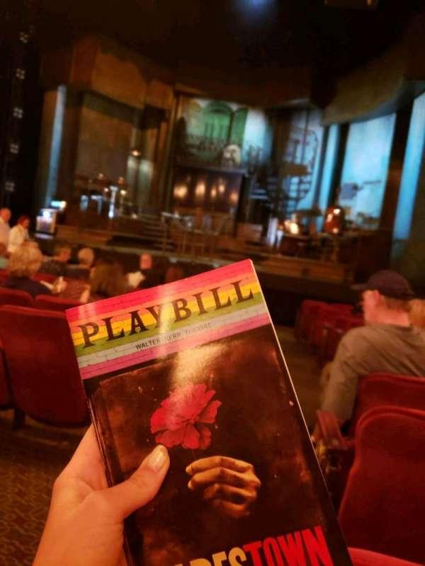 Walter Kerr Theatre, secção: orchestra, fila: N, lugar: 2