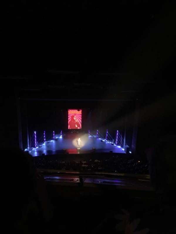 San Diego Civic Theatre, secção: Balcony Left, fila: P, lugar: 11