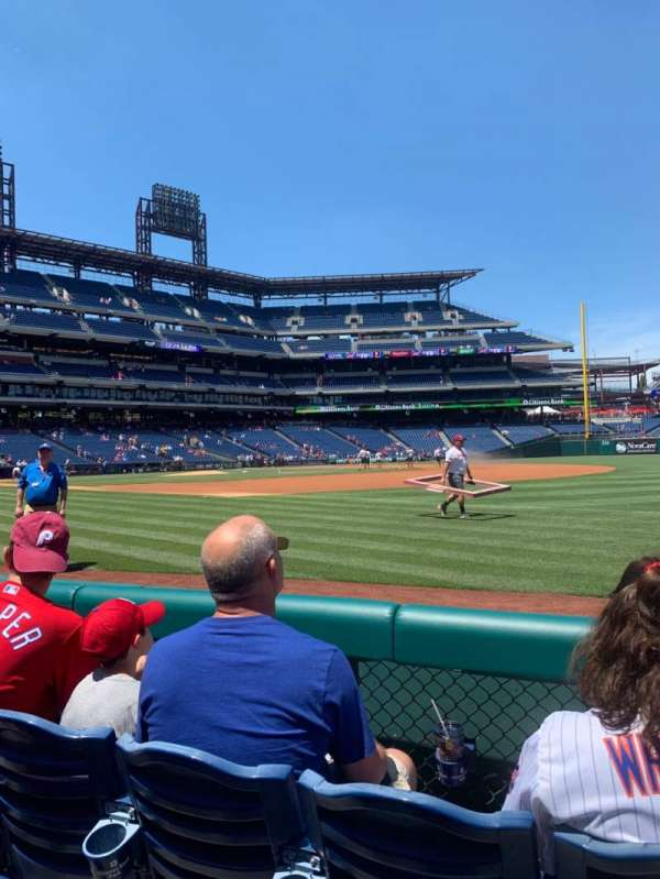 Citizens Bank Park, secção: 112, fila: 3, lugar: 7