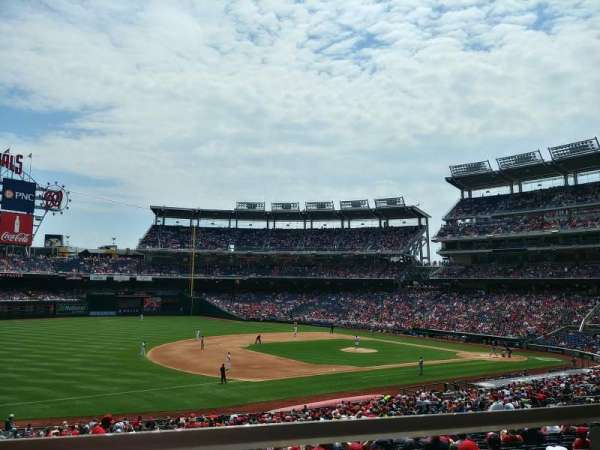 Nationals Park, secção: 112, fila: W, lugar: 1, 2
