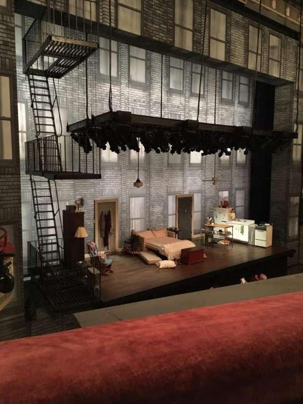 Broadhurst Theatre, secção: Mezzanine L, fila: A, lugar: 19