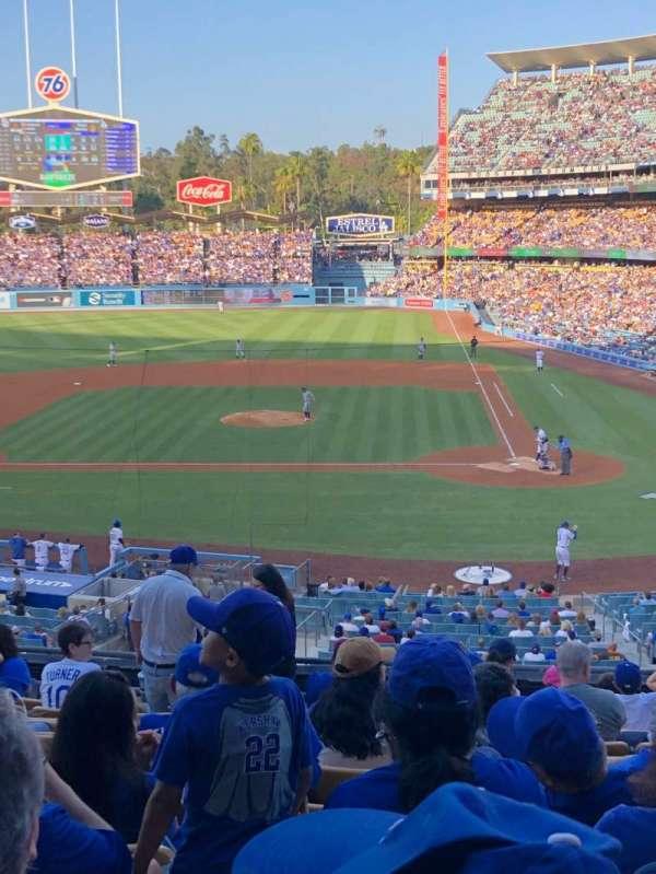 Dodger Stadium, secção: 121LG, fila: L, lugar: 3