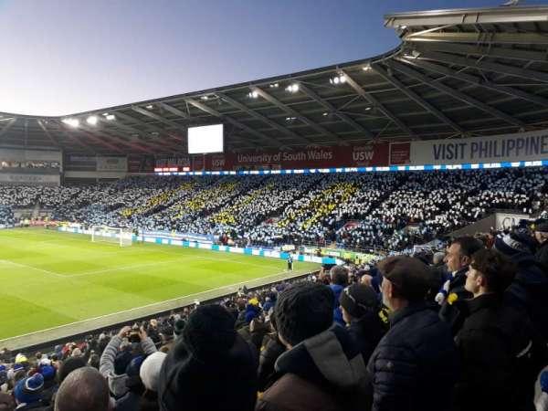Cardiff City Stadium, secção: Ninian stand, fila: X, lugar: 849