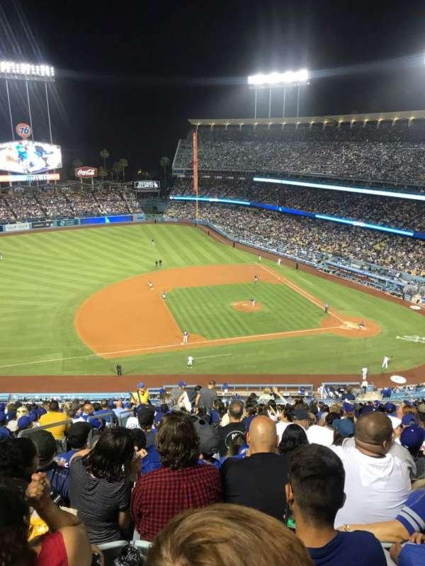 Dodger Stadium, secção: 19RS, fila: V, lugar: 19