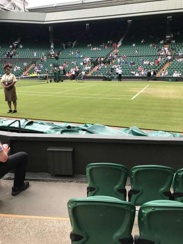 Wimbledon, Centre Court, secção: 111, fila: D, lugar: 18