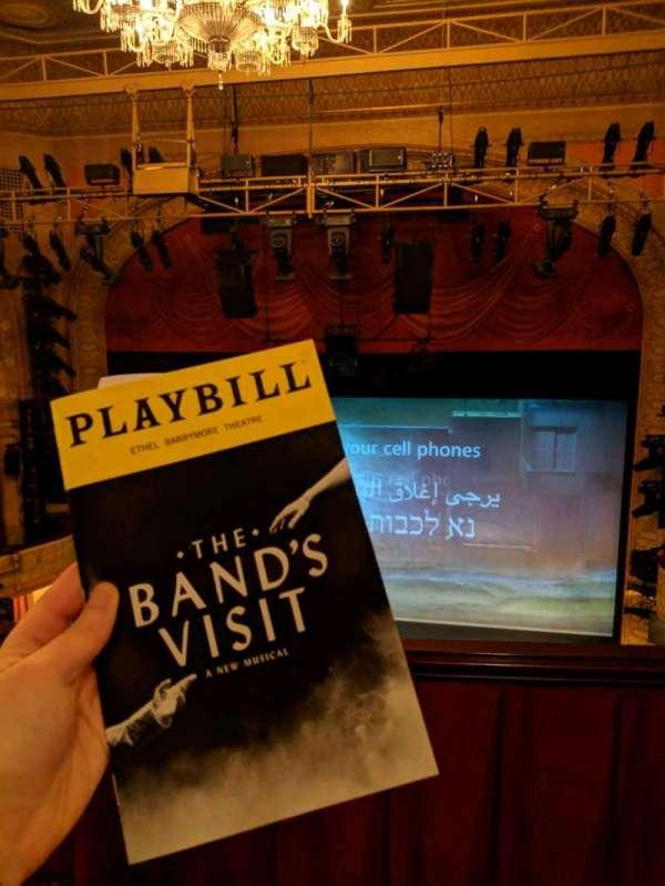 Ethel Barrymore Theatre, secção: Rear Mezzanine C, fila: A, lugar: 112