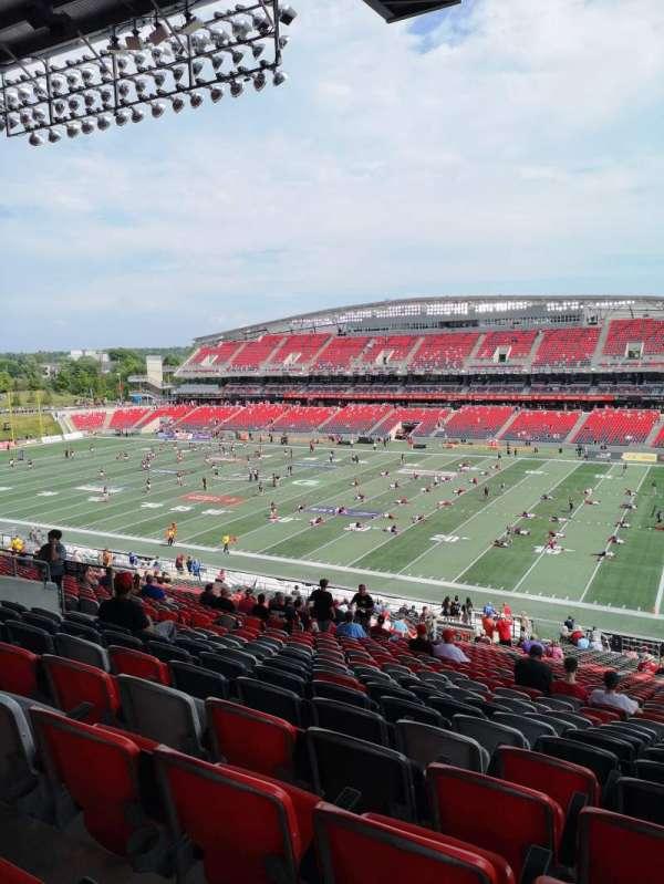 TD Place Stadium, secção: BB, fila: 9, lugar: 22
