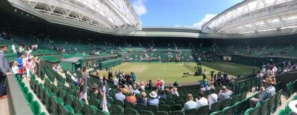 Wimbledon, Centre Court, secção: 204, fila: A, lugar: 87