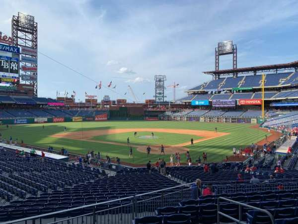 Citizens Bank Park, secção: 125, fila: 30, lugar: 4