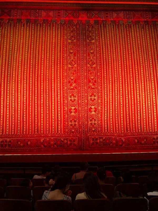 New Amsterdam Theatre, secção: Orchestra C, fila: F, lugar: 109