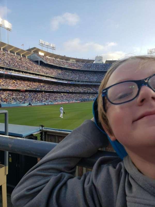 Dodger Stadium, secção: 308PL, fila: A, lugar: 9