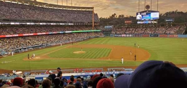 Dodger Stadium, secção: 134LG, fila: N, lugar: 4