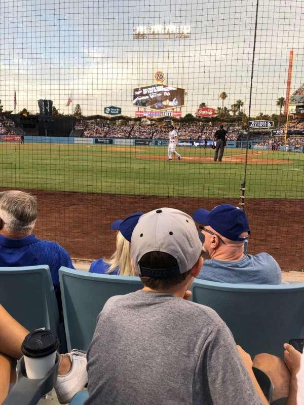 Dodger Stadium, secção: 5DG, fila: CC, lugar: 1