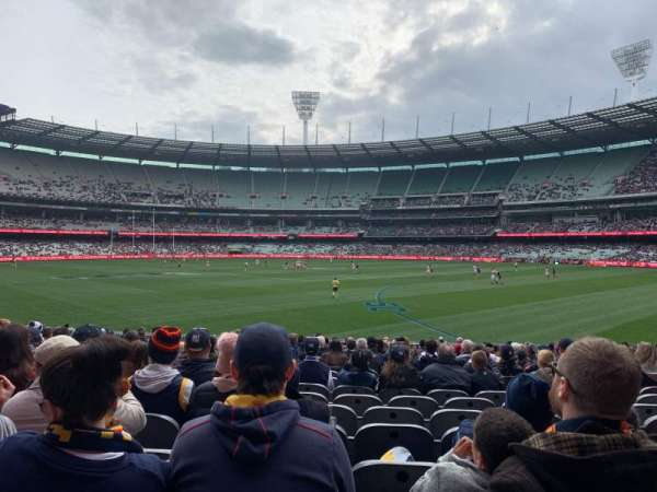 Melbourne Cricket Ground, secção: M11, fila: V, lugar: 11