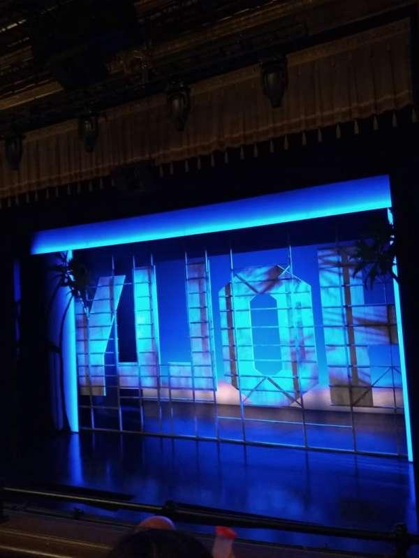 Nederlander Theatre, secção: Mezzanine R, fila: C, lugar: 6