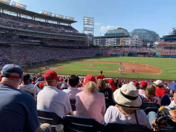Nationals Park, secção: 130, fila: SS, lugar: 15