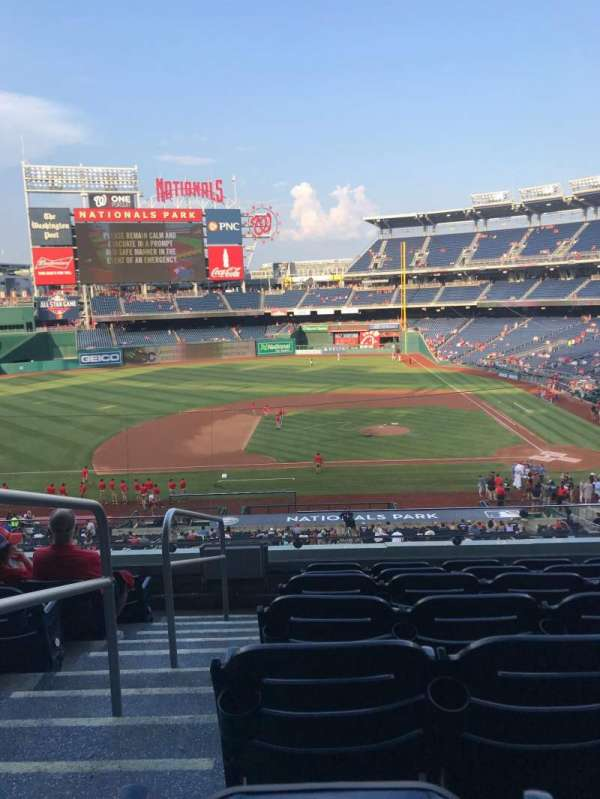 Nationals Park, secção: 209, fila: G, lugar: 23