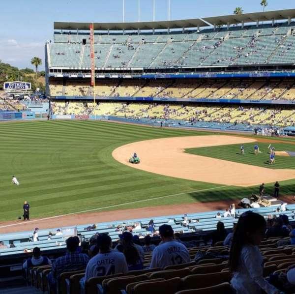 Dodger Stadium, secção: 153LG, fila: P, lugar: 11