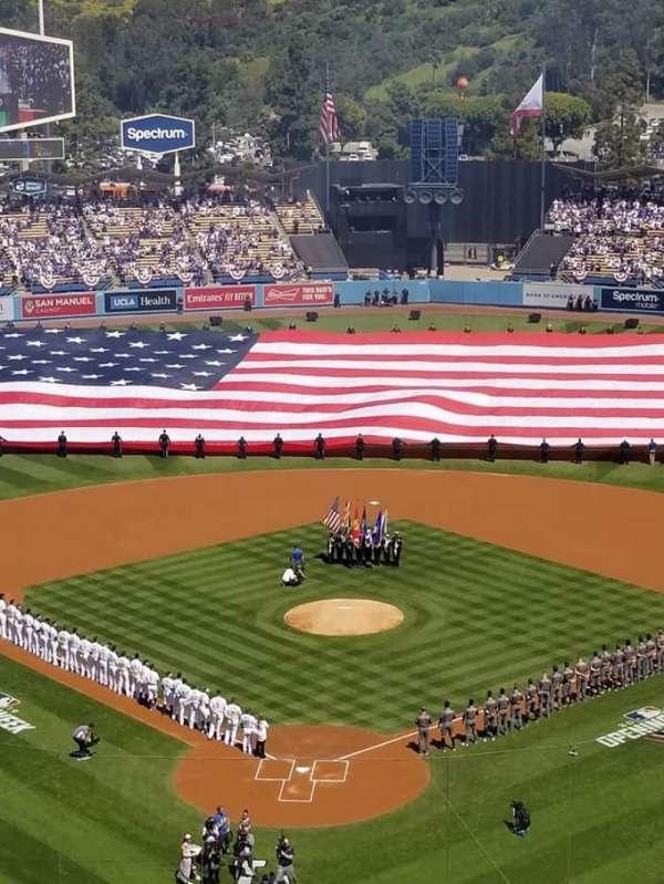 Dodger Stadium, secção: 2RS, fila: O, lugar: 1