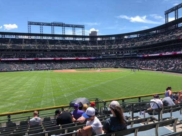 Coors Field, secção: 155, fila: 11, lugar: 7