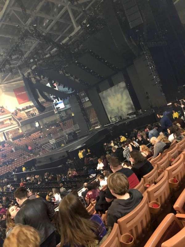 SNHU Arena, secção: 120, fila: K