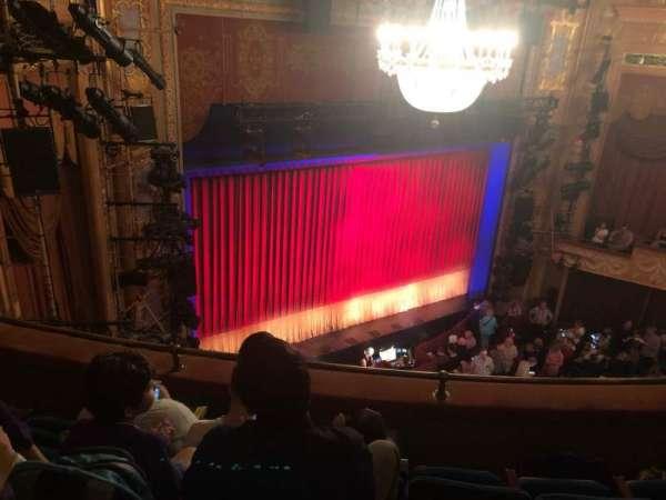 Longacre Theatre, secção: Balcony L, fila: D, lugar: Idk