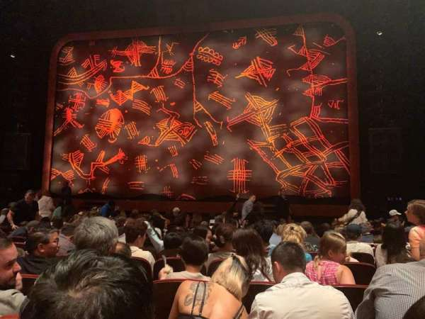 Minskoff Theatre, secção: Orchestra C, fila: N, lugar: 128