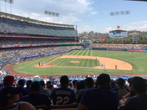 Dodger Stadium, secção: 130LG, fila: R, lugar: 6