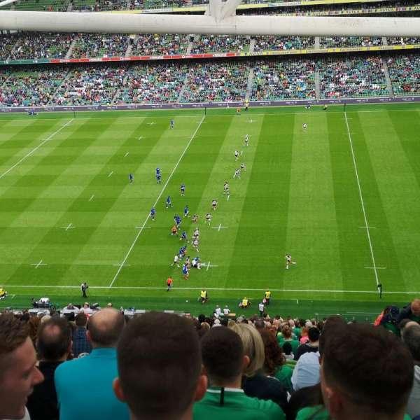 Aviva Stadium, secção: 542, fila: GG, lugar: 18