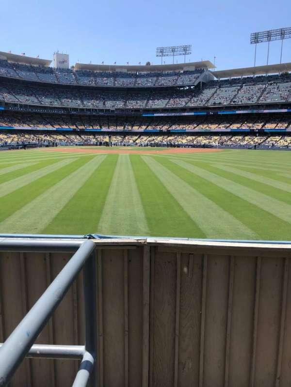 Dodger Stadium, secção: 310PL, fila: A, lugar: 1
