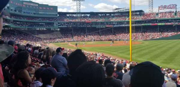 Fenway Park, secção: Right Field Box 92, fila: VV, lugar: 12