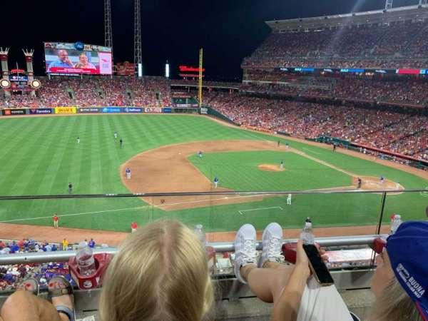 Great American Ball Park, secção: 416, fila: B, lugar: 22