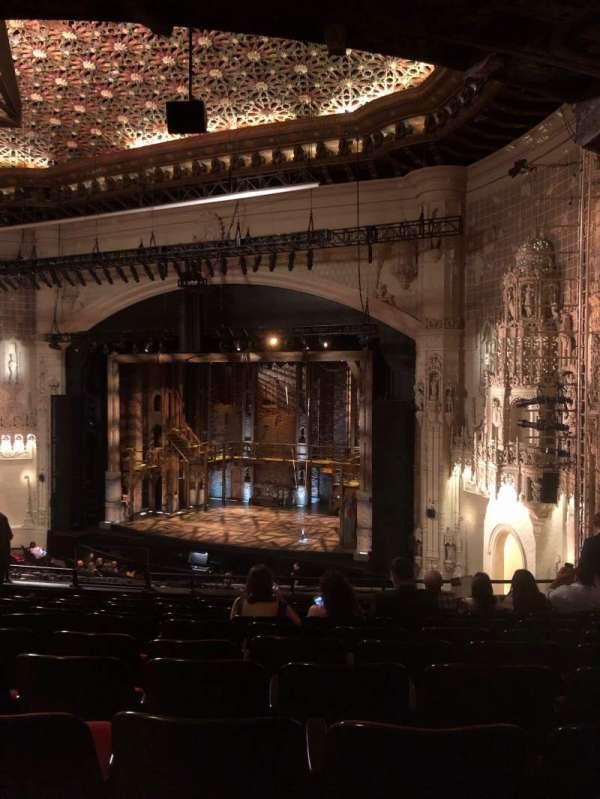 Orpheum Theatre (San Francisco), secção: mezzanine r, fila: L, lugar: 24