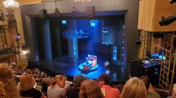 Music Box Theatre, secção: Mezzanine R, fila: G, lugar: 22