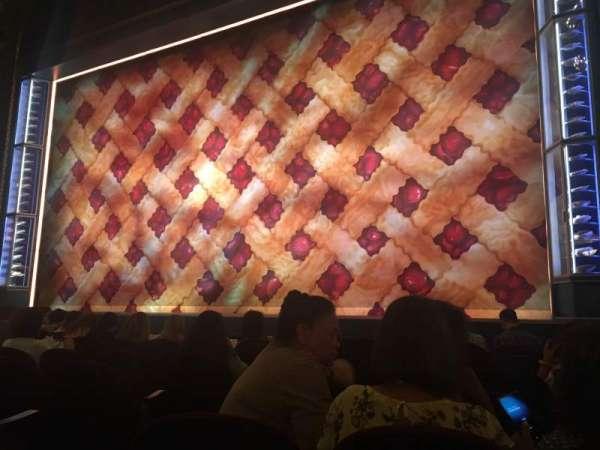 Brooks Atkinson Theatre, secção: Orchestra R, fila: F, lugar: 6