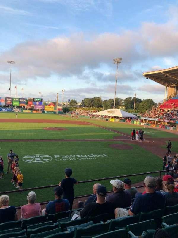 McCoy Stadium, secção: 10, fila: G, lugar: 17