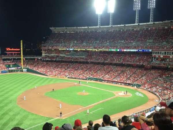 Great American Ball Park, secção: 414, fila: J, lugar: 22