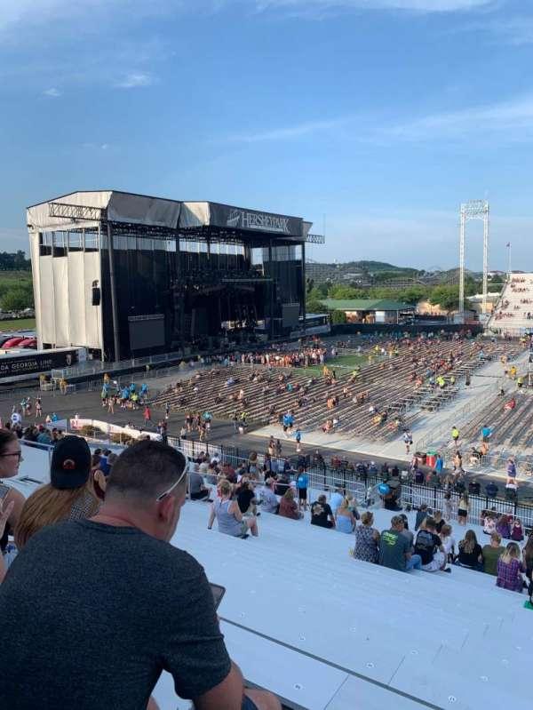 Hershey Park Stadium, secção: 7, fila: Z, lugar: 15