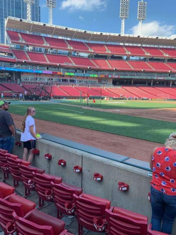Great American Ball Park, secção: 132, fila: D, lugar: 3