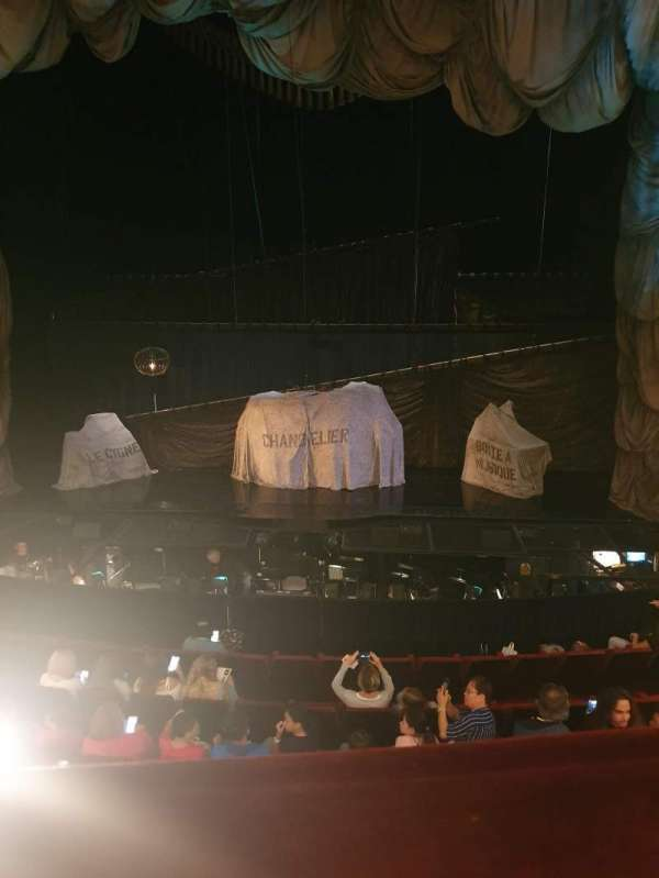 Her Majesty's Theatre, secção: Royal Circle, fila: A, lugar: 15