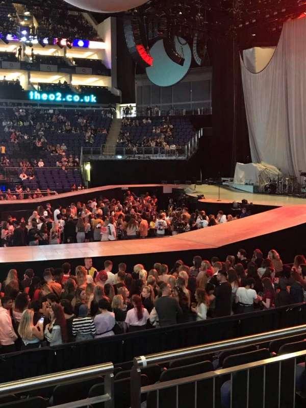 The O2 Arena, secção: 112, fila: K, lugar: 363