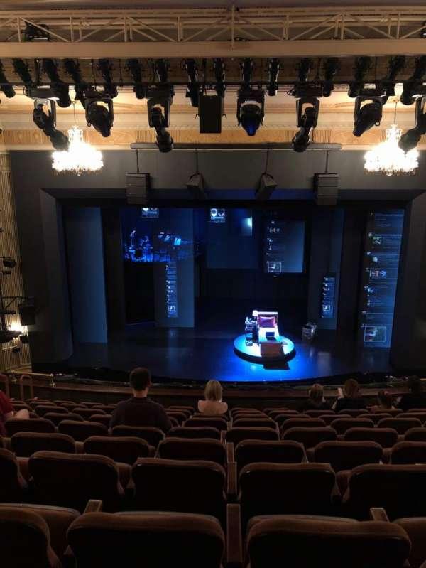 Music Box Theatre, secção: Mezz, fila: K, lugar: 107