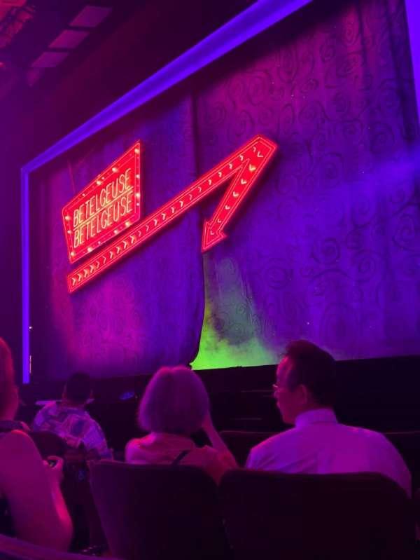 Winter Garden Theatre, secção: Orchestra R, fila: D, lugar: 6