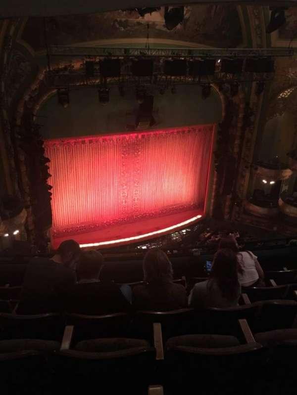 New Amsterdam Theatre, secção: Balcony L, fila: F, lugar: 17