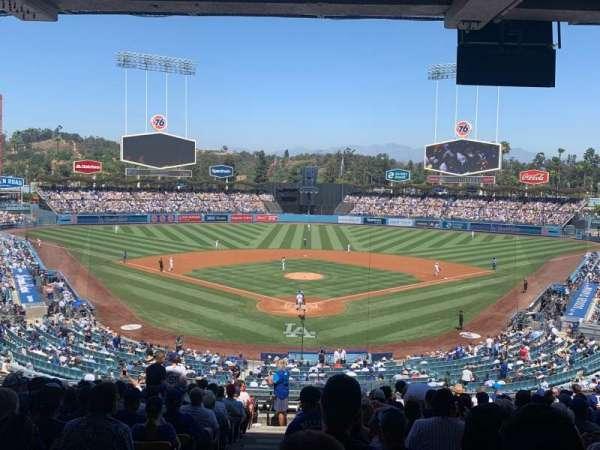 Dodger Stadium, secção: 101LG, fila: S, lugar: 1