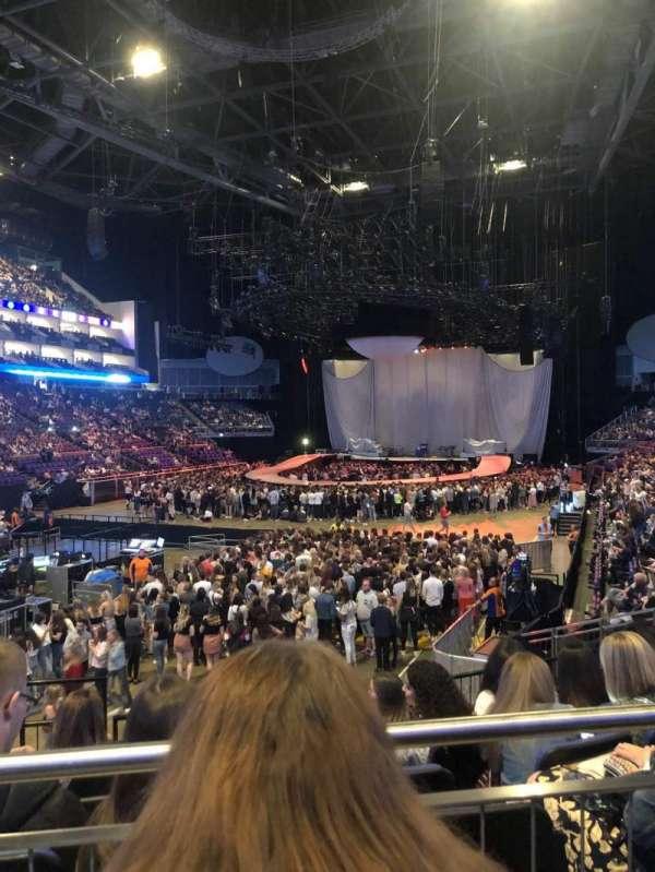 The O2 Arena, secção: 108, fila: P