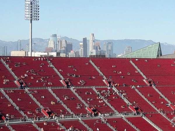 Los Angeles Memorial Coliseum, secção: 310B, fila: 22, lugar: 15